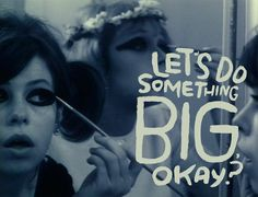 Czech New Wave Film by Věra Chytilová's 1966 classic Sedmikrásky [Daisies]… Daisies 1966, Blogger Quotes, Pop Art, Typography Love, Cartoon Tv Shows, The New Wave, Film Inspiration, Summer Quotes, Kindred Spirits