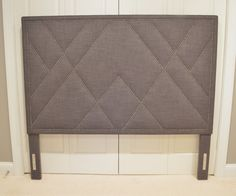 Upholstered Headboard Inspired by West Elm's by ShorelineHome