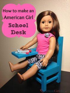 American Girl School Desk Tutorial