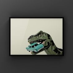 Title: Tyrannosaurus Car Chomp Please select either photo or canvas as well as the size youd like where it says select diameter from the drop down as you place it in your cart. Pricing is also available there. PHOTOS are printed with love at a professional photo lab using premium finish Kodak Dinosaur Photo, Dinosaur Art, Vintage Sports Nursery, Professional Photo Lab, Tyrannosaurus, Boys Room Decor, Gifts For An Artist, Paintings For Sale, Cute Art