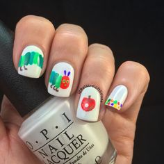 They Very Hungry Caterpillar nails