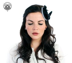 Black  fascinator hat with butterflies by XeniaKuhn on Etsy, €65.00