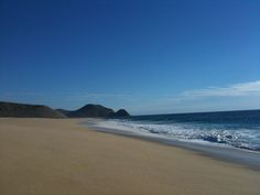 Todos Santos, Baja. A surprisingly empty stretch of sand at the foothills of the Sierra de la Laguna Mountains.