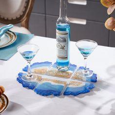 Agate Coaster Epoxy Resin Silicone Mold Irrugular Circle Geode Slice Large