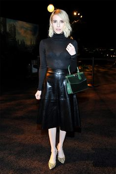 The Most Flattering Going Out Look, Thank You Emma Roberts via @WhoWhatWearUK