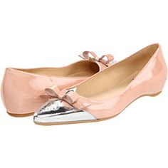 """The new """"it' color salmon and super cute to boot. Stuart Weitzman makes amazing shoes."""