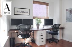 Before & After: A Whole New Look for a Home Office