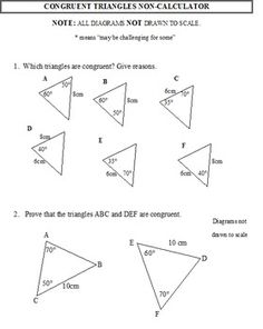congruent triangles worksheet flora pinterest worksheets triangles and activities. Black Bedroom Furniture Sets. Home Design Ideas