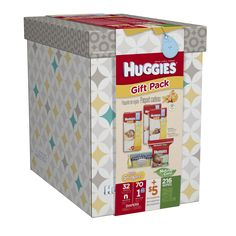 Our newly designed HUGGIES® Gift Pack is a thoughtful gift for expecting moms. Each pack includes Little Snugglers Diapers with Winnie the Pooh and friends soft graphics, Natural Care Wipes, Clutch 'N' Clean Wipes and more than $5 in coupons!