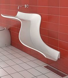 """creative basin design"" No. This is asking for urinal use. Bathroom Sink Design, Bathroom Sinks, Funky Bathroom, Bathroom Fixtures, Bathroom Colors, Bath Design, Modern Bathroom, Bathroom Ideas, Lavabo Design"