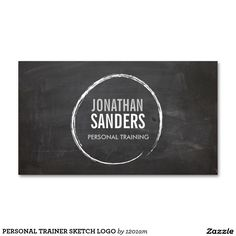 PERSONAL TRAINER SKETCH LOGO Double-Sided STANDARD BUSINESS CARDS (Pack OF 100)