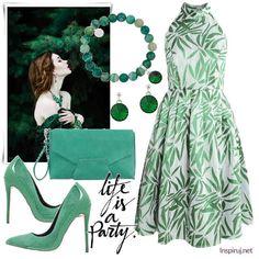 Stylizacje dnia z Inspiruj. net – letnie sukienki z liściastym motywem - KobietaMag.pl Polyvore, Outfits, Image, Fashion, Moda, Suits, Fashion Styles, Fashion Illustrations, Kleding