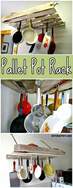 Pallet Pot Rack - 150 Best DIY Pallet Projects and Pallet Furniture Crafts - Page 24 of 75 - DIY & Crafts