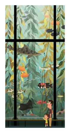 Kelp Forest by Chris Lee Here is an Artist I wish great success. I discovered Chris at wonder-con 2016 and fell in love with his work.