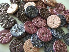 Dottery Pottery. Ceramic Buttons!!!!!