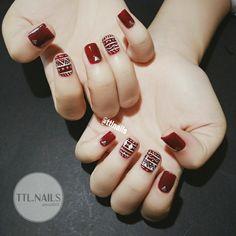 Thổ cẩm nail Glam Nails, Red Nails, Beauty Nails, Hair And Nails, Gorgeous Nails, Love Nails, Pretty Nails, Karma Nails, Indian Nails