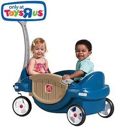 Open a world of adventure and enjoy the ride with the by Step2 Easygoing Wagon - Blue. This innovative child's wagon provides tots with a comfortable joyride as you take them on a stroll around the neighborhood, park or zoo. Kiddos will love the captivating colors and unique door that they can open and close when the wagon isn't moving. A favorite feature of the Blue Easygoing Wagon for parents is the seatbelts that will keep the little ones secure when the riding toy is in motion. Let the…