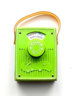 Vintage 1970 Fisher Price Music Box Pocket Radio Happy Birthday To You 768 by TreasuresMemories on Etsy