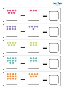 Math Under 7 Subtraction Worksheet #free #printables for #backtoschool #DIY #classroom fun