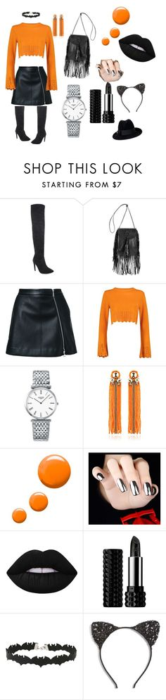 """biker girl"" by meg2005 ❤ liked on Polyvore featuring Yves Saint Laurent, Guild Prime, Boohoo, Longines, Begada, Topshop, Lime Crime, Kat Von D, Miss Selfridge and Cara"