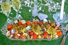 Crunchy-topped cod with clams and cherry tomatoes