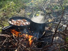 Food always tastes better when you're camping