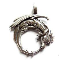 1 Silver Dragon Charm by TreeChild1 on Etsy, $9.75