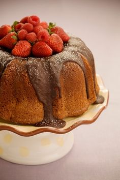 The Bag Lady's Favorite Chocolate Pound Cake
