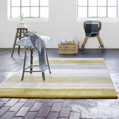 Dreaming Rugs 3247 075 by Esprit in Mustard and Taupe buy online from the rug seller uk Mustard Rug, Mustard Yellow, Ikea Jute Rug, Esprit Home, Linen Comforter, Carpets Online, Textiles, Yellow Area Rugs
