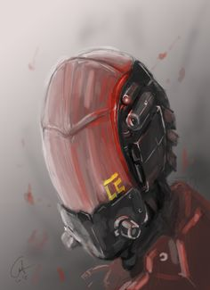 I need more practices for digital painting. This is the result after so many times trial. #sci_fi #digitalart #digitalpainting #chracterdesign #practice #drawing