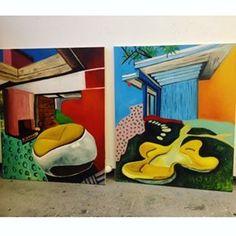 Old work! #paint#painter#atelier#studio#brushes#colours#color#oilpainting#oilpaint#oil#painter#artist#painter#canvas#contemporary#contemporaryart#happy#art#manchester#exhibition#interior#interiors#interiordesign#floral#dress#retro#retroart#vintage#patterns#artdealex#modern#modernart