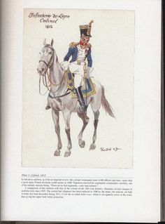 Line Infantry: Plate 1: Colonel, 1812.