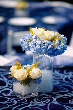 Matrimonio elegante in blu