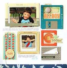 Scrapbook layout by design team member Nancy Damiano with our Boys Of Summer kit