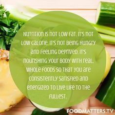 Sharing this postcard from Food Matters! The truth, so simply worded. What does nutrition mean to you?