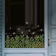 Cafe Window, Window Mural, Cheap Wall Stickers, Window Stickers, Window Decals, Glass Film Design, Vitrine Design, Painting On Glass Windows, Posca