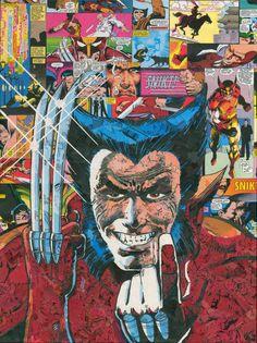 Wolverine Comic Collage Giclee Print por ComicReliefOriginals