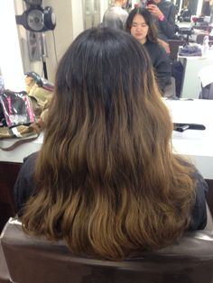 Long layers, forward graduation and a one length cut with a wavey blowdry. 03/06/15