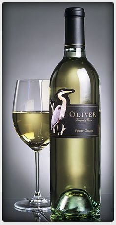 Oliver Winery Pinot Grigio. A nice wine for the summer.