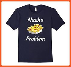Mens Nacho Problem Funny T Shirt for Mexican food lovers Large Navy - Funny shirts (*Partner-Link)