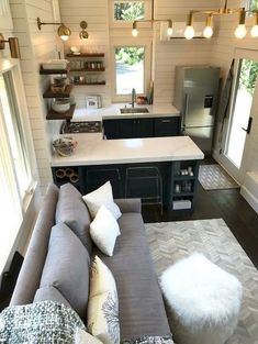 49 creative small apartment kitchen design and organization ideas 47 Home Renovation, Home Remodeling, Remodeling Contractors, Bathroom Remodeling, Small Apartment Kitchen, Studio Apartment, Apartment Ideas, Best Tiny House, Tiny House Bathroom