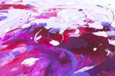 Acrylbild Gemälde Original Kunst abstrakte Malerei rosa