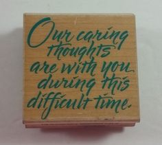 Hero Arts Rubber Stamp Caring Thoughts F1030 Sympathy #HeroArts #Background
