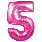 Hot Pink Jumbo Foil Balloon # 5