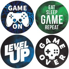 Help your gamer level up with cool video gamer birthday party supplies. Shop party favor stickers and more with their favorite gamer sayings and symbols. 10th Birthday Parties, Birthday Games, Birthday Party Favors, Birthday Party Decorations, 2nd Birthday, Video Game Party, Party Games, Video Games Girls, Graduation Party Supplies