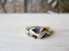 Sterling Siver Woman Figure Ring Vintage Boho Ring by MeshuMaSH,