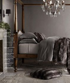 Restoration Hardware  Exotic Faux Fur Bed throw