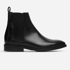 """Our Chelsea Boot gets a modern revamp. Details like a leather heel tab and squared elastic panels offer a modern look and pull-on ease. It also features a ¾"""" stacked leather heel, textured sole, and rubber heel for durability."""