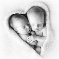 In case we have twins someday...stunning shot of newborn twins! Love the heart