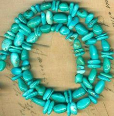 "Castle Dome Turquoise Beads Arizona ""Pinto Valley"" 6 10mm Genuine 16"" Strd 